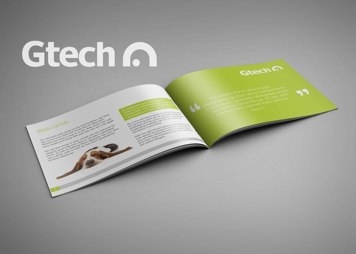 Gtech brochure by Freshly Squeezed Design